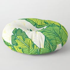 Tropical Leaves #society6 #decor #buyart Floor Pillow