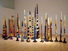 Spirit Pole.  Love crazy art!