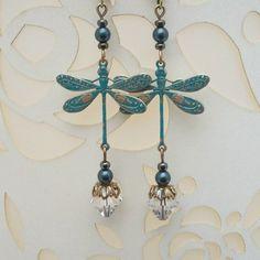 Blue Dragonfly Earrings by Bessie loves