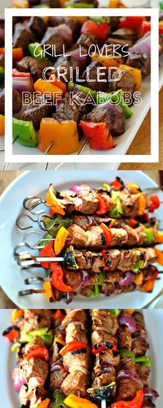 PrintGrill Lovers' Grilled Beef Kabobs Recipe (Servings: 4) Ingredients1 lb stew meat -- cut into 1 inch 1/2 c teriyaki sauce 1/3 c dry red wine 1 T Worcestershire sauce 1/2 t garlic salt 1 unseasoned meat tenderizer 1/2 sm pineapple or canned 1 lg green pepper: cut into 1 inch 1 lg onion: cut[...]
