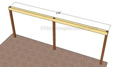 This step by step diy woodworking project is about how to build an attached carport. Learn how to build a carport attached to an already existing building, by paying attention to the instructions described in the article. Lean To Carport, Building A Carport, Carport Sheds, Diy Carport, Carport Plans, Patio Plans, Shed Plans, Building Plans, Woodworking Projects Diy