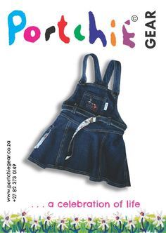 Girls #dungaree by #portchiegear - www.portchiegear.co.za