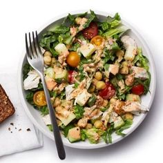 Spice up a traditional chicken salad with ancho chile powder and cayenne spices for a Southwestern treat. Add chopped whole-wheat tortilla chips for added crunch and flavor. Darker lettuces, like romaine, have more nutrients than pale iceberg. | Health.com