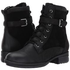 Blondo Tunes Waterproof (Black Suede/Nubuck) Women's Boots (€125) ❤ liked on Polyvore featuring shoes, boots, ankle boots, lace up combat boots, suede ankle boots, laced up boots and black bootie boots
