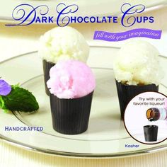 Chocolate Shot Glasses An Edible Dessert Shooter - Goody Guides Chocolate Shot Glasses, Chocolate Shots, Chocolate Cups, Chocolate Desserts, Dessert Shooters, Dessert Cups, Purple Desserts, Just Desserts, My Recipes