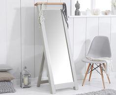 Somerset Oak And Grey Cheval Mirror Bedroom Furniturecheval