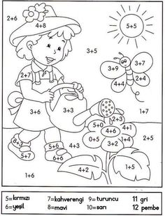 math coloring worksheet addition for easter Math Coloring Worksheets, Preschool Learning, Kindergarten Worksheets, Teaching Math, Preschool Activities, 1st Grade Math, Homeschool Math, Math For Kids, Kids Education