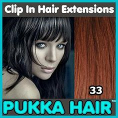 20 Inch (Dark Auburn #33 Clip In Remy Human Hair Extensions - 8 Piece Set - Full Head - Clips Attached - 110g Weight - Get the Celebrity Lush Look!! by Pukka Hair Extensions. $95.99. Using unique low-profile 'MicroClip' Technology (up to 30% thinner clip-ins than our leading competitor!) ensures the most natural looking hair extensions in the world, with no unsightly bumps!. Perfect for adding volume and length to your natural hair. The set contains a total of 8 wefts complete ...