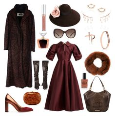 """Untitled #1389"" by harikleiatsirka on Polyvore featuring Uma Wang, M. Gemi, Gucci, Bulgari, Brahmin, Jeffrey Levinson, Michael Kors, Plein Sud, Lalique and Lauren B. Beauty"