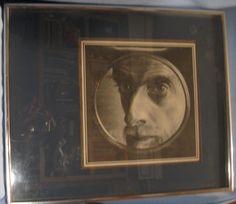 M C Escher 1943 framed artist self portrait matted rare Maurits Cornelis Offered by #SisahQueen on Bonanza