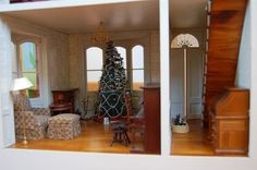 The Franklin Mint Memories of Christmas Dollhouse Norman Rockwell Doll House7
