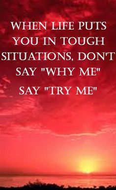 The most self-destructive thought that any person can have is thinking that he or she is not in total control of his or her life. That's when, 'Why me?' becomes a theme song. So now is the time. Please Try me. http://www.fitsolutionsblog.com/