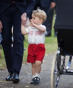 Royal wave: It isn't known what name George uses for his other grandma, the Duchess of Cor...