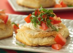 Tomato-Basil Appetizers -but put on crackers