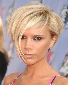 Woman hair cut - femme cheveux court les grandes mèches