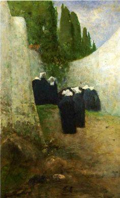 Vincenzo Cabianca (Italian Macchiaioli; 1827-1902) ~ Vita Tranquilla