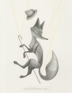 Charles Santoso: The Fox, Pencil on Arches Paper. More at http://www.charlessantoso.com/wp/