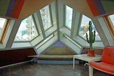 Interior de una Cube house, Rotterdam.