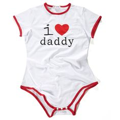 ADULT BABY SNAP CROTCH ROMPER ONESIE – I❤Daddy PATTERN