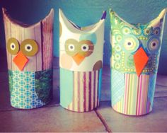 mintagehome - toilet paper roll owls