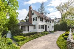 Sophisticated, perfectly proportioned historic home in a lovely neighborhood, on a beautiful street, offers privacy yet within walking distance to town, train & schools. Exquisite details: 10 ft.ceilings, historic moldings,transoms,French doors,custom plantain shutters,designer light fixtures & lanterns. Four original fireplaces grace the living room, family room,library & master bedroom. The stylish kitchen is expertly designed. Lovely windows allow the entire house to be filled ...
