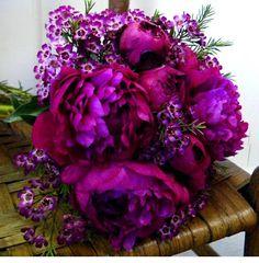 Purple Peony and the pretty purple flowers Ty got me before | Briarwood Florist Weddings