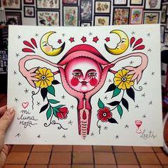 dianatorrestatuajes:  Mi querida luna roja♥ (en Lucky's tattoo...