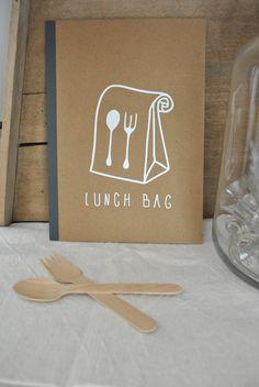 Image of cahier petit format/motif lunch bag