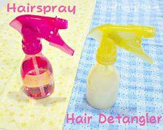Make Your Own Homemade Hairspray and Hair Detangler