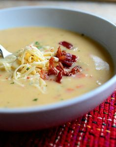 Perfect Potato Soup | The Pioneer Woman. Blend more soup next time. Cook carrots and celery a little longer.