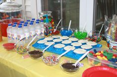 Cupcake bar.  What kid wouldn't love this?!