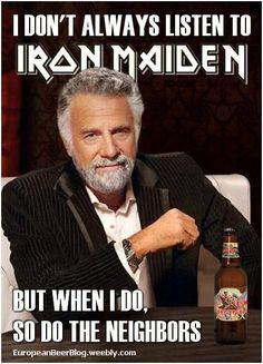 Memes, Iron Maiden, Heavy Metal, Trooper Beer, Music, Funny, Humor