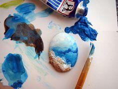 miniature painting #blue #cancas #art #artist #colors #mavi #mini #dollhouse #gulipek #istanbul #tablo #resim #sanat #boyama #güzelsanatlar #diorama #handmade #boyama