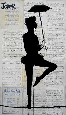 "Saatchi Online Artist Loui Jover; Drawing, ""tight rope"" #art"