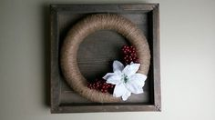Jute twine wreath. I love making wreaths Michelle Edwards's photo.