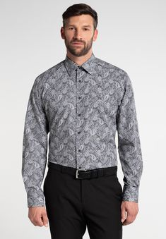 Paisley, Fit, Shirt Dress, Mens Tops, Shirts, Dresses, Products, Fashion, Colour Gray