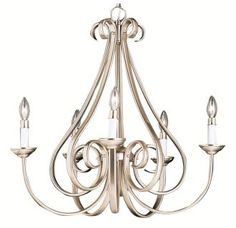 """View the Kichler 2021 Dover 5 Light 26"""" Wide Single Tier Candle-Style Chandelier at Build.com."""