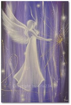 Limited angel art poster Follow your heart modern by HenriettesART