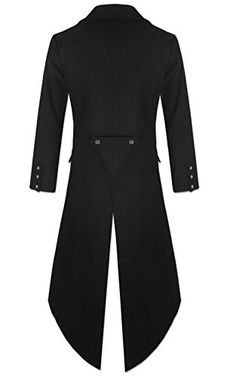 Mens Gothic Tailcoat Jacket Black Steampunk VTG Victorian Coat at Amazon Men's Clothing store: