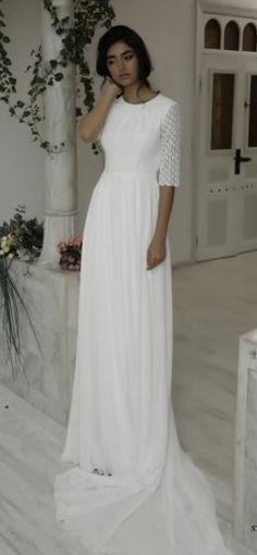 1496 best Modest (tznius) Wedding Gowns images on Pinterest   Alon ...