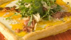 Prosciutto Rocket and Egg Tart