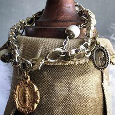 """Mary"" vintage multi-strand assemblage bracelet ooak by Alpha Female Studio"
