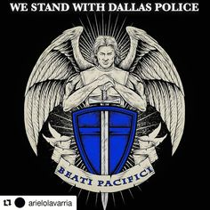 #Repost @arielolavarria  regram @_lethal_beauty Blessed are the peacemakers for they will be called the children of God. Matthew 5:9 Saint Michael please protect my brothers and sisters.  #Dallas #dallaspolice #dallaspd #stmichael #matthew #protect #prayers #family #lawenforcement #cops #police #officer #staysafe #serveandprotect #thinblueline #brothers #sisters #blue #backtheblue #prayfordallas