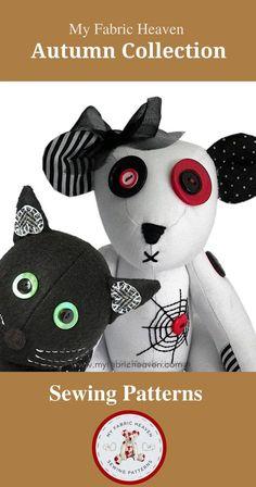 Etsy Handmade, Handmade Crafts, Handmade Items, Handmade Products, Diy Crafts, Diy Halloween Decorations, Halloween Themes, Halloween Fabric, Creepy Halloween