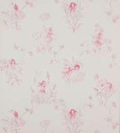 Meadow Flower Fairies Wallpaper by Jane Churchill | Jane Clayton