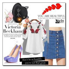 """Bez naslova #149"" by ajisa-ikanovic ❤ liked on Polyvore featuring Victoria Beckham and Christian Louboutin"
