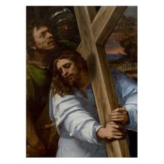 Christ Carrying the Cross Greetings Card