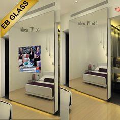 Waterproof Tv Mirror Glass ,one Way Two Way Mirror Glass Sheet Eb Glass