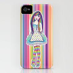 Candy Girl - iPhone case by jadeboylan - http://society6.com/jadeboylan/C-A-N-D-Y_iPhone-Case