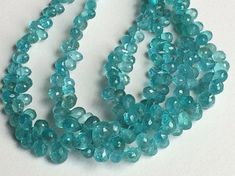 Blue Apatite Beads Blue Apatite Faceted Tear Drop by gemsforjewels